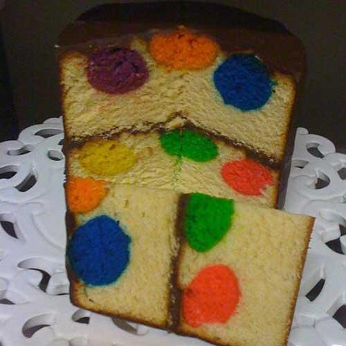 עוגת כדורים צבעונית