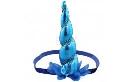 קשת חד קרן עם גומי צבע כחול