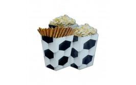 סט 6 קופסאות פופקורן/ממתקים דגם כדורגל