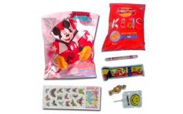 שקיות יום הולדת דגם מיקי מאוס עם חטיפים והפתעה