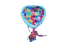 פינאטה לב תכלת יום הולדת שמח
