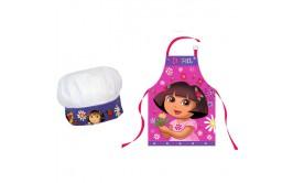 סינר ילדים עם כובע דגם דורה