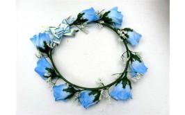 זר פרחים כחול