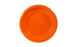 """צלחות 7"""" איכותיות צבע כתום תפוז"""