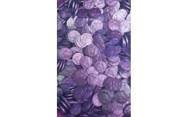 מארז 1/2 קילו מטבעות שוקולד חלב צבע סגול לילך