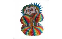 מרכז שולחן Happy birthday צבעי קשת