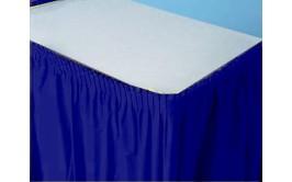 חצאית שולחן כחולה