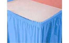 חצאית שולחן תכלת