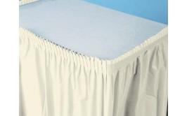 חצאית שולחן לבנה