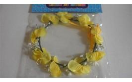 זר פרחים לראש צבע צהוב איכותי