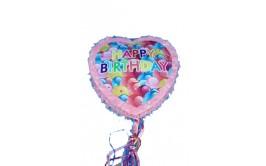 פיניאטה לב ורוד יום הולדת שמח