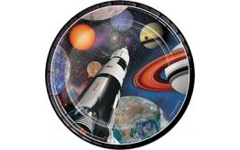 סט צלחות קטנות הרפתקה בחלל