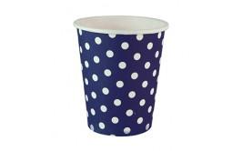 כוסות נקודות כחול לשתיה קרה/חמה