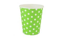 סט כוסות שתייה קרה/חמה צבע ירוק נקודות