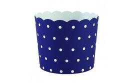 מארז 50 גביעי קאפקייקס כחול נקודות