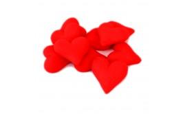 לבבות אדומים תלת מימד מסוכר לקישוט העוגה