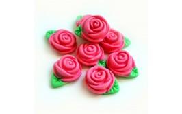 סט ורדים צבע ורוד מבצק סוכר