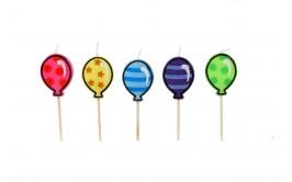 נרות יום הולדת צורת בלונים