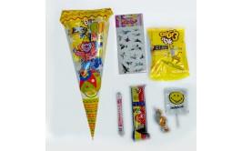 שקית יום הולדת קונוס ליצן עם ממתקים והפתעה