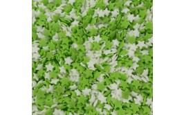 סוכריות לעוגה כוכבים ירוק לבן