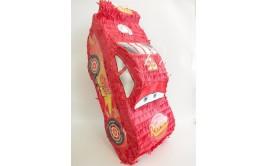 פיניאטה מכונית אדומה עם מקל