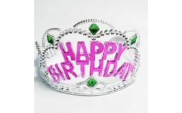 happy birthday כתר פלסטיק