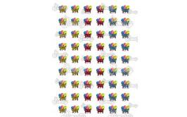 שקף להדפסה דגם פורים בלונים 2