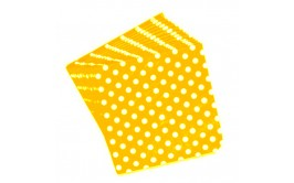 מארז 50 מפיות צהוב נקודות