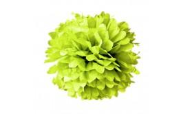 """פונפון נייר משי ירוק תפוח קוטר 35 ס""""מ"""
