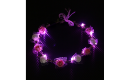 זר פרחים  אורות לד ורוד-להיט