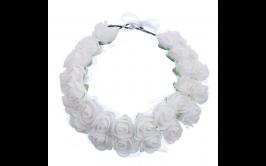 זר פרחים כפול לבן מרהיב