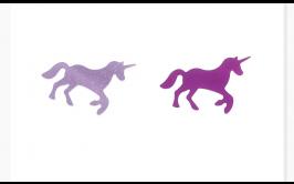 מארז קונפטי חד קרן מיקס 2 צבעים