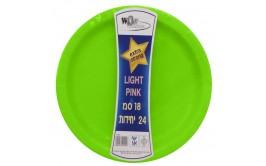 """סט 24 צלחות קוטר 18"""" ירוק"""