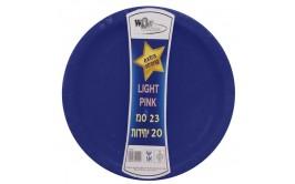 """מארז 20 צלחות קוטר 23"""" צבע כחול"""