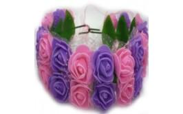 זר פרחים מרהיב כפול ורוד סגול