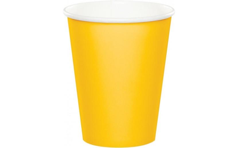 סט כוסות שתייה קרה/חמה צבע צהוב