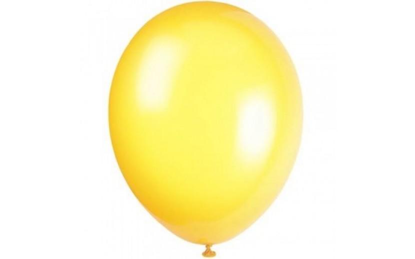 מארז בלונים בצבע צהוב לימון מטאלי