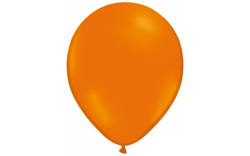 10 בלונים כתום מטאלי תפוז