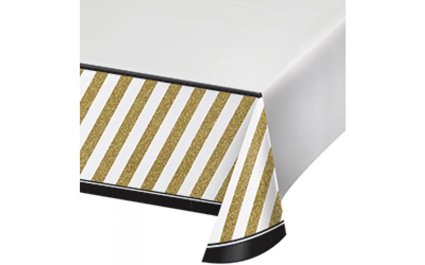 מפת שולחן דגם שחור זהב אלגנט
