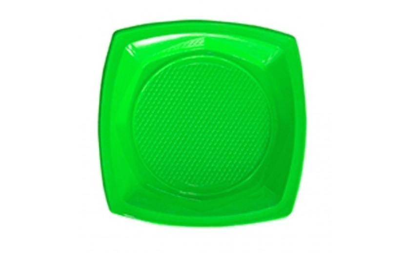 """סט 20 צלחות מרובעות  """"23 צבע ירוק"""