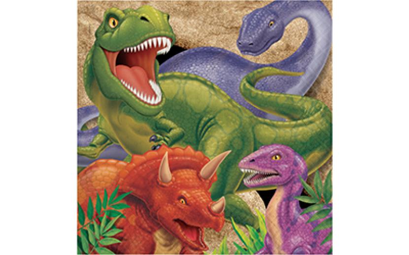 מארז מפיות דינוזאורים