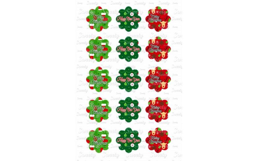 טרנספר כריסמס פרחים 586
