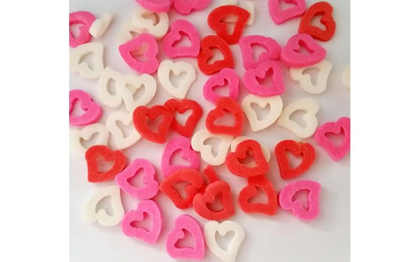 סוכריות לב חלול צבע אדום ורוד לבן