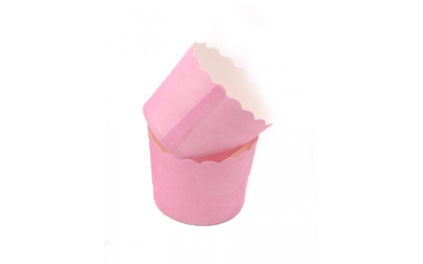 מארז גביעי קאפקייקס קטנים צבע ורוד
