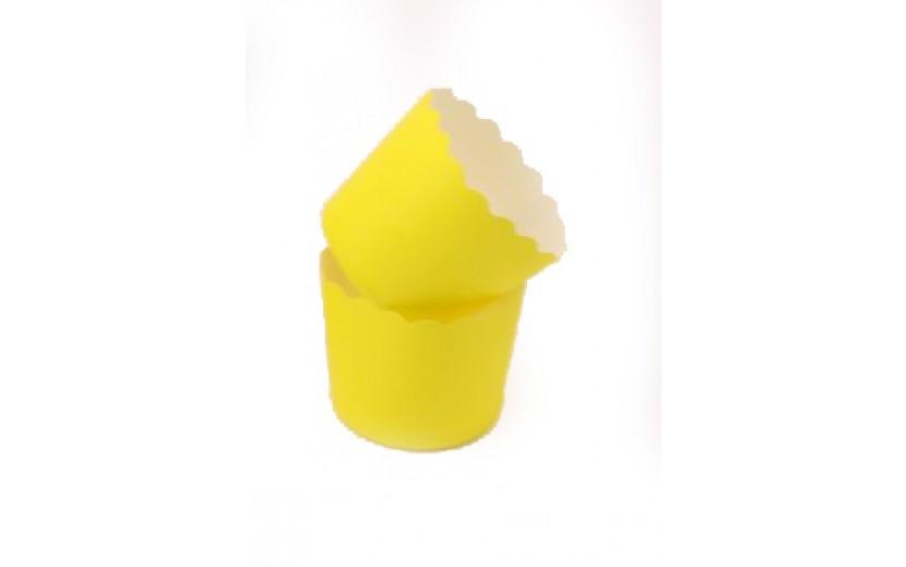 מארז גביעי קאפקייקס קטנים צבע צהוב