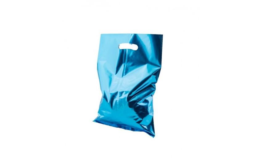 שקיות יום הולדת מטאלי כחול עם ידית אחיזה