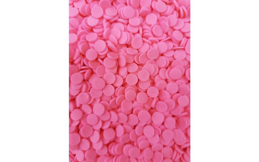 מארז סוכריות דיסקיות עגול צבע ורוד