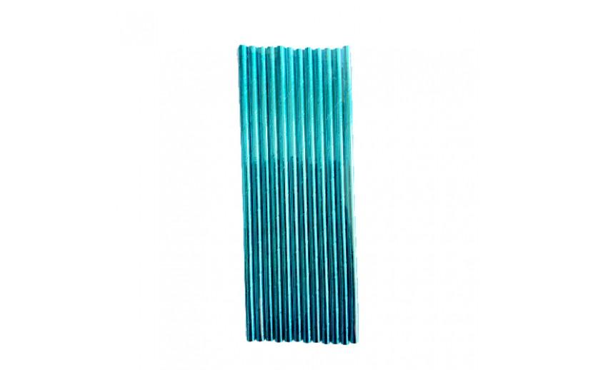 חבילת קשים מעוצבים כחול מטאלי