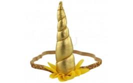 קשת חד קרן עם גומי צבע זהב