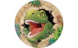 צלחות גדולות דגם דינוזאור